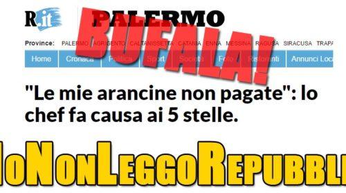 """Palermo – Beppe Grillo: """"Bufala di Repubblica sulle arancine non pagate dal M5S"""""""