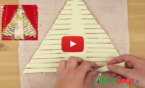 Idea golosa e spettacolare per Natale: basta arrotolare la pasta sfoglia in questo modo  GUARDA IL VIDEO
