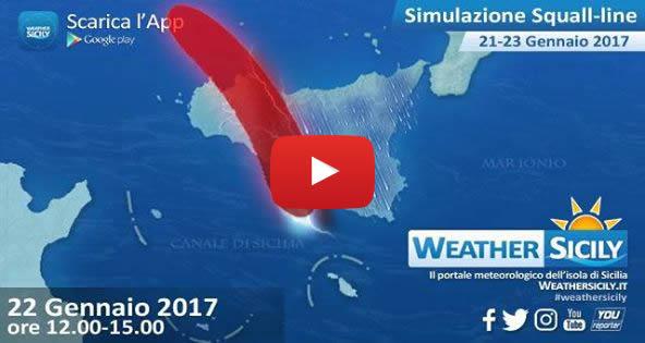 ATTENZIONE! Ecco il percorso della squall-line che colpirà la Sicilia nelle prossime ore |VIDEO