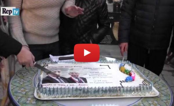 Palermo, la festa ironica per il compleanno dei cantieri di via Emerico Amari |IL VIDEO