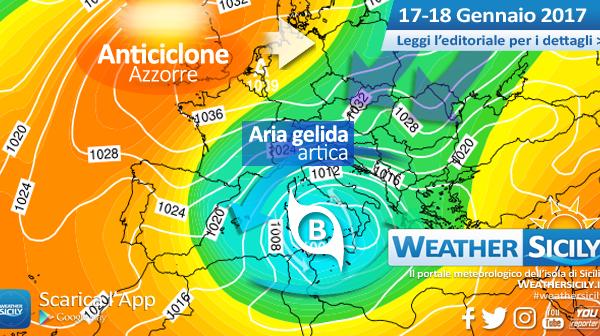 Sicilia, ancora 48 ore in compagnia del freddo artico: attesa neve a quote più basse