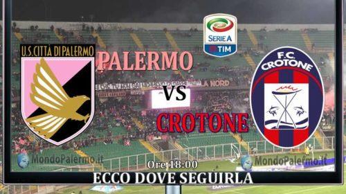 Palermo-Crotone: Ecco come seguirla in Tv e Streaming