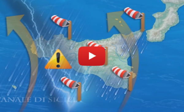 ATTENZIONE! Ecco il percorso del fronte temporalesco che sta per colpire la Sicilia |VIDEO