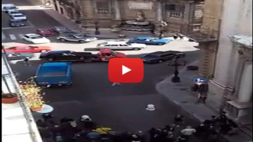 Palermo, i Quattro Canti diventano set del Film Taodue con Marco Bocci |IL VIDEO