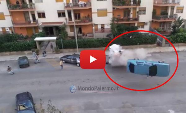 Palermo, sul set del Film Taodue la simulazione della strage di Via D'Amelio |IL VIDEO