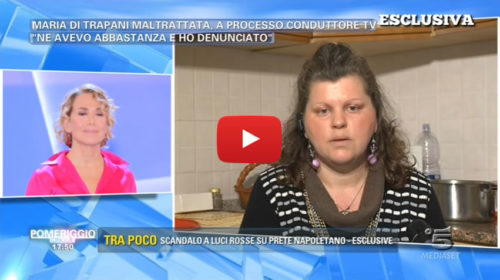 Il caso di Maria Di Trapani approda da Barbara D'Urso a 'Pomeriggio Cinque'  IL VIDEO