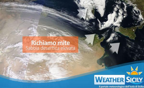 Sicilia, intenso richiamo mite in arrivo. Attesa tanta sabbia del Sahara con temperature quasi estive!