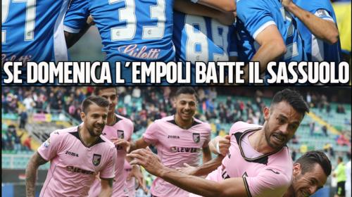 Se Domenica l'Empoli batte il Sassuolo, il Palermo incassa 25 milioni di euro