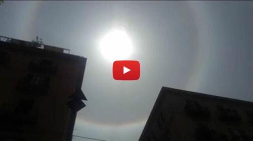 Un cerchio perfetto attorno al Sole: spettacolare fenomeno nel cielo di Palermo |IL VIDEO