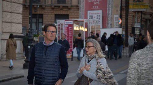 Palermo, Fabio Capello in visita allo Street Food Fest di Via Roma |FOTO