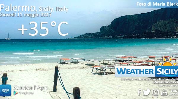 Sicilia divisa in due: Palermo supera i +35°C, +20°C a Catania. Venerdì il picco del caldo
