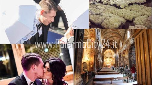 Palermo, Sfarzo e atmosfere ottocentesche per le nozze tra Belotti e la sua Giorgia |LE IMMAGINI