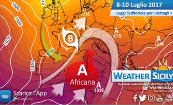 Sicilia, si avvia il dominio africano. Picco atteso la prossima settimana ma giungono novità…