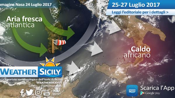 Sicilia, ultime ore di caldo: imponente rinfrescata atlantica in arrivo