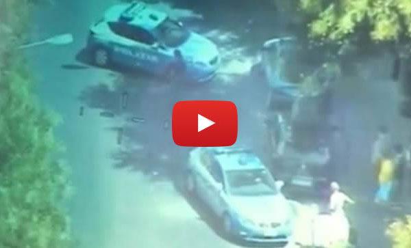 Palermo, rubano scooter ma l'elicottero della polizia li riprende: due fermi |VIDEO