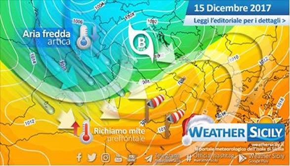 Sicilia, breve richiamo mite prefrontale venerdì. Torna l'inverno entro il fine settimana