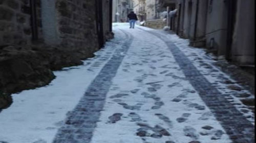 Freddo in Sicilia, nevicate in provincia di Palermo ❄ LE IMMAGINI