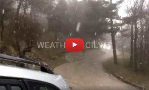Sicilia, arriva la neve sul monte Cammarata ❄ IL VIDEO 🎥