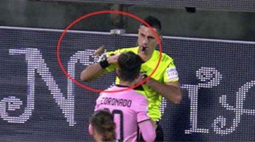 Palermo multato di 10 mila euro per un cono gelato lanciato all'arbitro 🎥 VIDEO