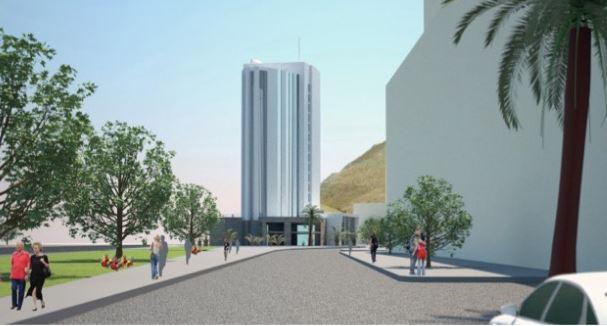 Palermo: Zamparini costruirà un grattacielo in tema Palermo Calcio nel centro città  FOTO