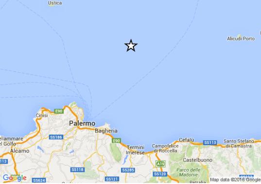 Trema il palermitano, registrata scossa di terremoto a largo di Palermo