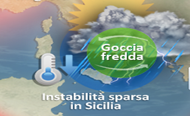 Meteo Sicilia, weekend a tratti perturbato e temperature in calo. Instabilità fino a martedì