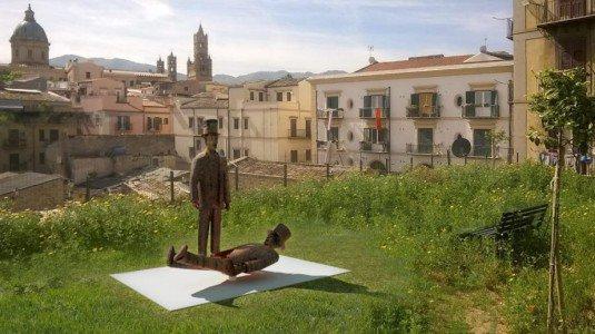 Franco e Ciccio rivivono in monumento a Palermo |FOTO