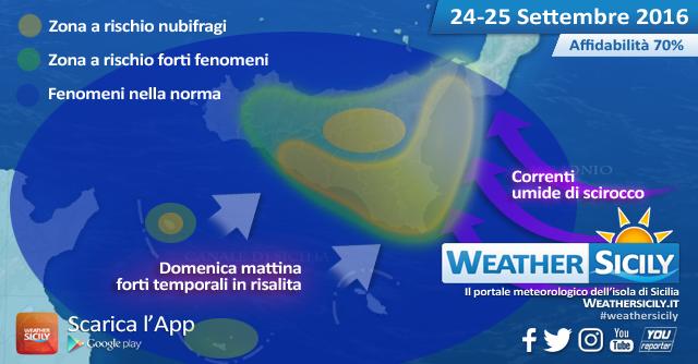 Sicilia, weekend all'insegna del maltempo: rischio nubifragi elevato in molte province