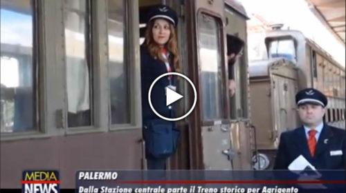 Palermo: dalla Stazione Centrale parte il Treno storico per la Valle Dei Templi di Agrigento 🏛 IL VIDEO 🎥