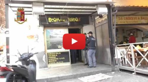 Sequestrato centro scommesse e panineria a Ballarò dalla polizia 🎥 VIDEO