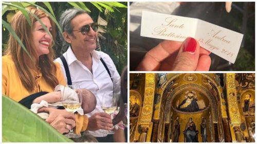 Filippo La Mantia e Chiara Maci hanno battezzato il figlio a Palermo – LE IMMAGINI
