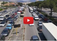 Inferno in viale Regione Siciliana, i lavori sul ponte Corleone bloccano la città 🎥 VIDEO