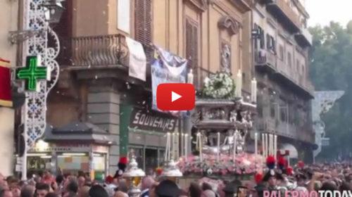 Le campagne e i fuochi, il corteo religioso chiude i festeggiamenti per Santa Rosalia 🎥 VIDEO