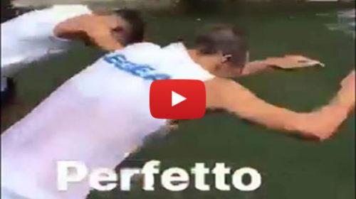 Palermitani si sfidano in una gara di tuffi nel ritiro di Sappada 🎥 VIDEO