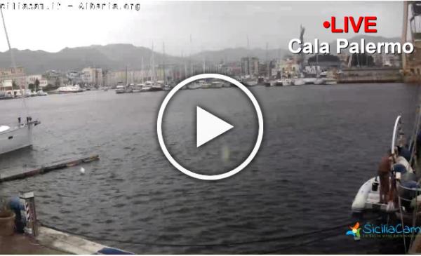 Palermo si sveglia sotto pioggia e tuoni: guarda le immagini IN DIRETTA dalla Cala 🎥
