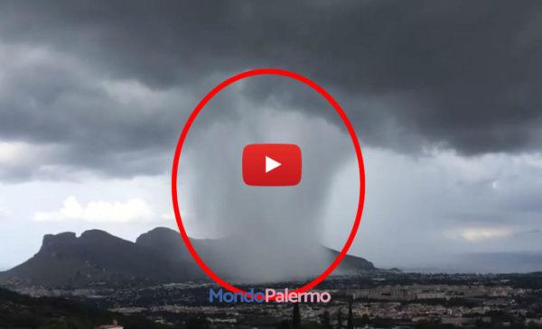 Palermo, la spettacolare e spaventosa Time-Lapse del downburst che ha colpito la zona nord 🎥 VIDEO