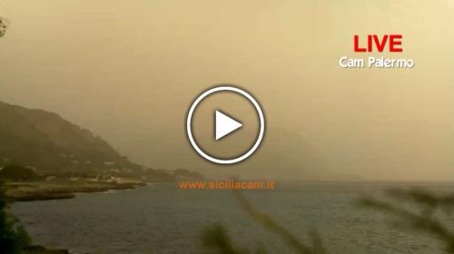 Palermo avvolta dalla sabbia sahariana: fortissimi venti e visibilità ridotta! Ecco le immagini IN DIRETTA 🎥🌀