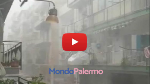 """Riprende la bufera di vento e pioggia a Palermo: """"Mai visto niente di simile"""" 🎥 IL VIDEO 🌀⚡☔😱"""