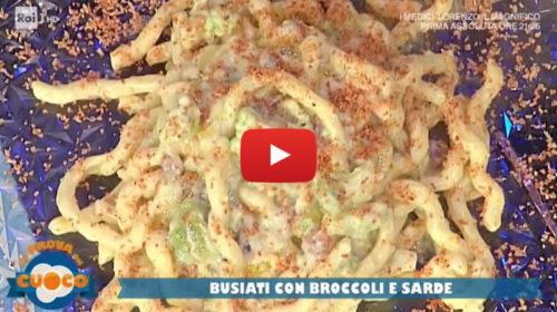 """Alla """"Prova del Cuoco"""" la ricetta: 'Busiati con Broccoli e Sarde' dello Chef Natale Giunta 📺 VIDEO"""