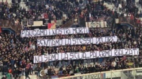 Curva Nord Catania: esposto uno striscione per la tragedia di Casteldaccia – LE IMMAGINI