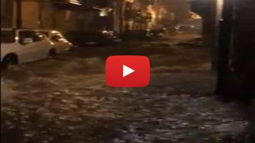 Nubifragio a Palermo, strade allagate: la via Porta di Castro trasformata in un fiume 🎥 VIDEO