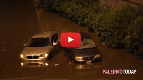 Maltempo, viale Regione diventa un lago: auto impantanate nel sottopasso di via Leonardo da Vinci 🎥 VIDEO