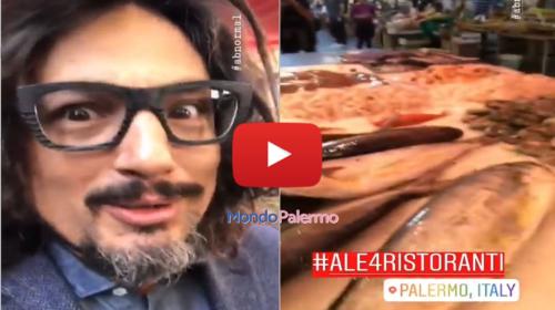 """Alessandro Borghese a Palermo per """"4 ristoranti"""", in giro al Mercato del Capo elogia lo Street Food 🎥 IL VIDEO"""