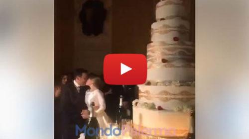 Le nozze dello chef Natale Giunta a Palermo: il fatidico momento del taglio della torta da record – VIDEO 🎥