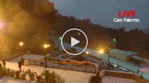 Palermo – Nevicata IN DIRETTA dalla webcam di Monte Pellegrino