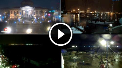 Palermo sotto la pioggia: guardate le suggestive immagini della città IN DIRETTA 🎥