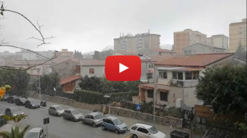 Precipitazioni a carattere nevoso stanno interessando le zone a sud di Palermo 🎥 VIDEO