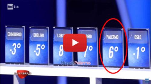 """Tv, gaffe nel programma di Rai1: per """"Superbrain"""" Palermo è una Capitale Europea 📺 IL VIDEO 🎥"""