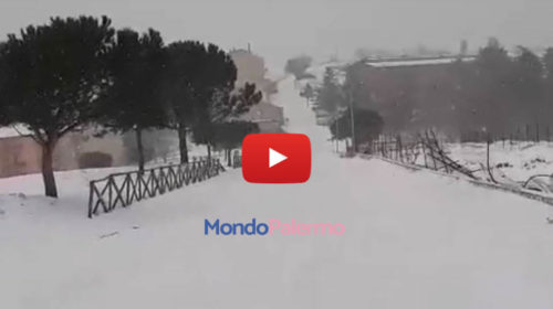 Palermo – Bufera di neve a Petralia Soprana, guardate che immagini 🎥 VIDEO