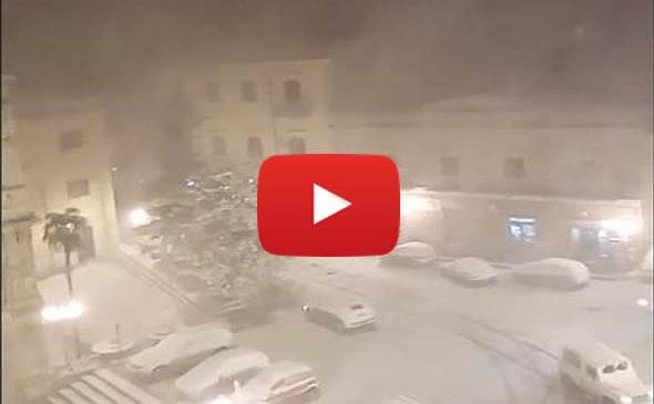 Vera e propria tormenta di neve nel palermitano: ecco le spettacolari immagini da Bisacquino – VIDEO 🎥